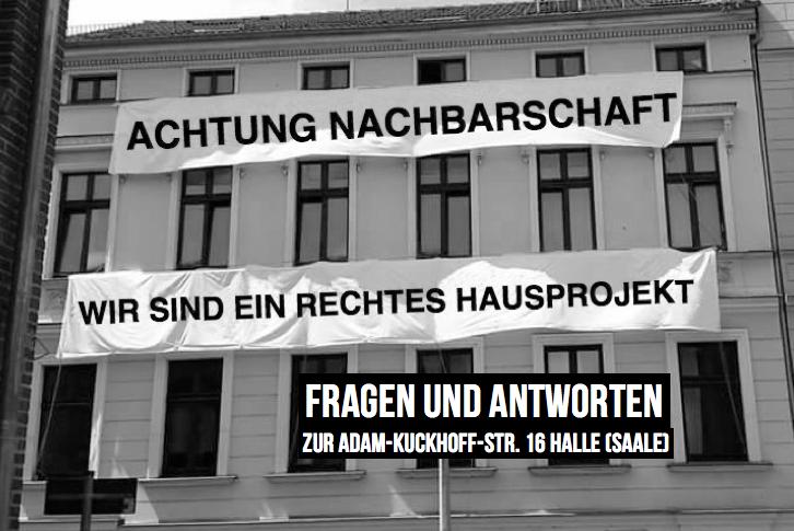 Rechtsextremes Hausprojekt Adam-Kuckhoff-Str. 16 Halle